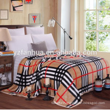 Home Hotel Airplane portable Printed Flannel Velour Bed Throw Blankets