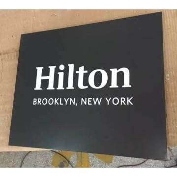 Placa de Metal en la recepción del Banco o pop por mayor Hotel