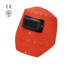 Good Quality for Welding Helmet Industrial safety red steel paper welding mask export to Philippines Importers