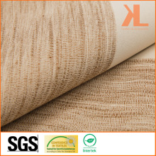 Polyester Brown Twilled Linen Look Inherently Flame Retardant Fireproof Blackout Fabric