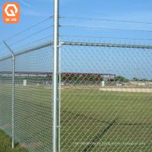 black powder coated temporary iron galvanized heavy duty chain link fence