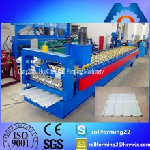 HC25 Aluminum Metal Roof Pressing Roll Forming Machine