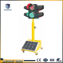 solar powered portable traffic light blinker lamp