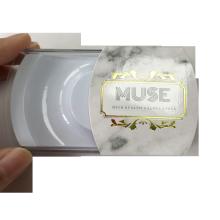 Custom Logo Foiled Marble Background Eyelashes Box