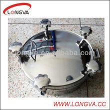 Rodada de aço inoxidável sanitário tampa do reservatório de tanque
