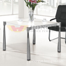 White Top Metal Legs Small Size HPL Laminate Furniture (HY-Q05)
