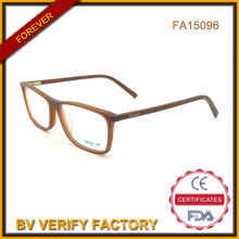 Cristal de gafas de acetato de Color mate en China (FA15096)