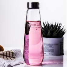 500ml Round Type Transparent Glass Beverage Water Bottles Cap/Wine Bottle/Portable Bottle/Customization Bottle/High Borosilicate /High Borosilicate Glass Bottle