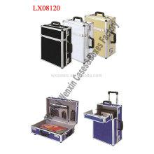 Nuevo maletín de aluminio portable de llegada con ruedas de alta calidad de China fabricante