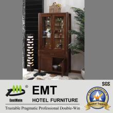 Porte vitrée Cabinet en bois pour salle de séjour (JA-C-3002)