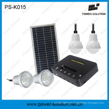Luz de hogar recargable portátil de energía solar con carga de teléfono (PS-K015)