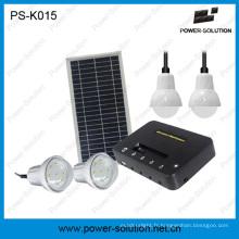 Système d'éclairage solaire rechargeable de lithium de 5200mAh et solution de remplissage de téléphone pour la maison