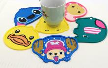 Porta-copos promocionais dos desenhos animados do PVC