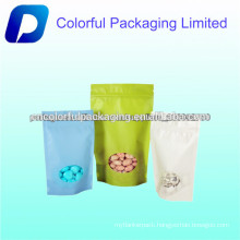 Promotional Ziplock stand up plastic nuts packaging bag with clear window