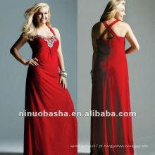 SRhinestone Beaded Stretch Jersey Evening Dress 2012