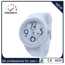 Reloj al por mayor del deporte de la calidad de la pulsera de goma de la jalea del espejo (DC-1312)