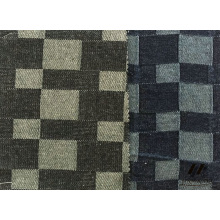 100% coton Jacquard Check Denim (U15360)