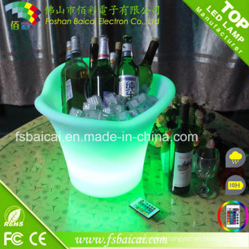 Bar Ice Bucket Table / Godet à glace en plastique LED Bar avec Ce, RoHS