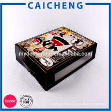 Customized colourful printing christmas paper packaging box for toy
