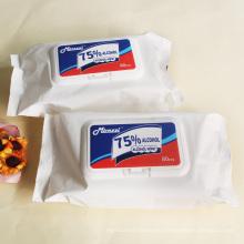 Custom 80PCS Non-woven Fabric 75% Alcohol Wipes