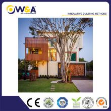 Boîtier en conteneur en acier modulaire préfabriqué Maison à faible coût