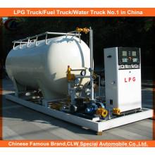 Reabastecimento de gás do veículo com uma instalação de enchimento de gás de 10 graus