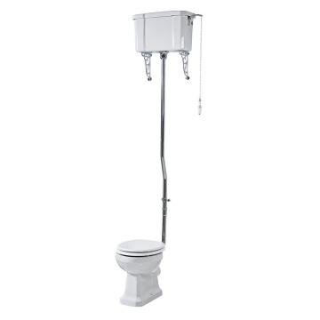 high level flush pipe kit & brass flush valve