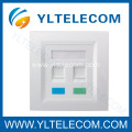 Wall Face Plates RJ45 Module Dual Port 2 Port 86*86MM 86 Type