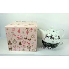 X'MAS Porcelain Teapot Set para uma pessoa para BS140514B
