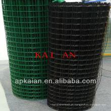 Hebei anping kaian pvc revestido 1 pol. Galvanizado soldado malha de arame