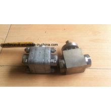 Válvula de bola flotante de acero forjado de alta presión 3PC (GQ61F)