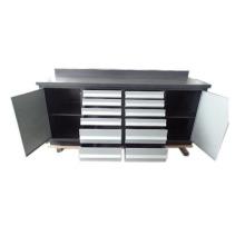 Высокое качество 12 ящики для инструмента шкаф металлический гараж с 2 дверями