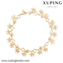 74620- Xuping Luck Elephant Jewelry Animal Gold Pulsera al por mayor