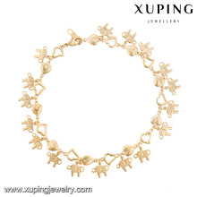 74620- Xuping Luck Elephant Jewelry Animal Gold Bracelet Wholesale