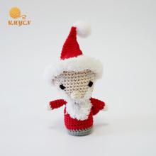 Crochet Plush Santa Amigurumi Dolls Decoração