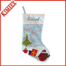 Top Sale Fleece Santa Christmas Stocking