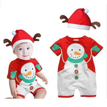 Wholesale Santa Christmas Snowman Jumpsuit Set Infant Halloween Baby Christmas Snowman Costume