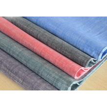 Slub Cotton Dyed Woven Fabric Women Dress