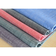 Slub Cotton Dyed Tissu Tissu Robe pour Femme