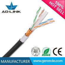 Al aire libre impermeable FTP / UTP cat6 23AWG cable de red 305m