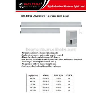 3m H type aluminum alloy scraper level ruler