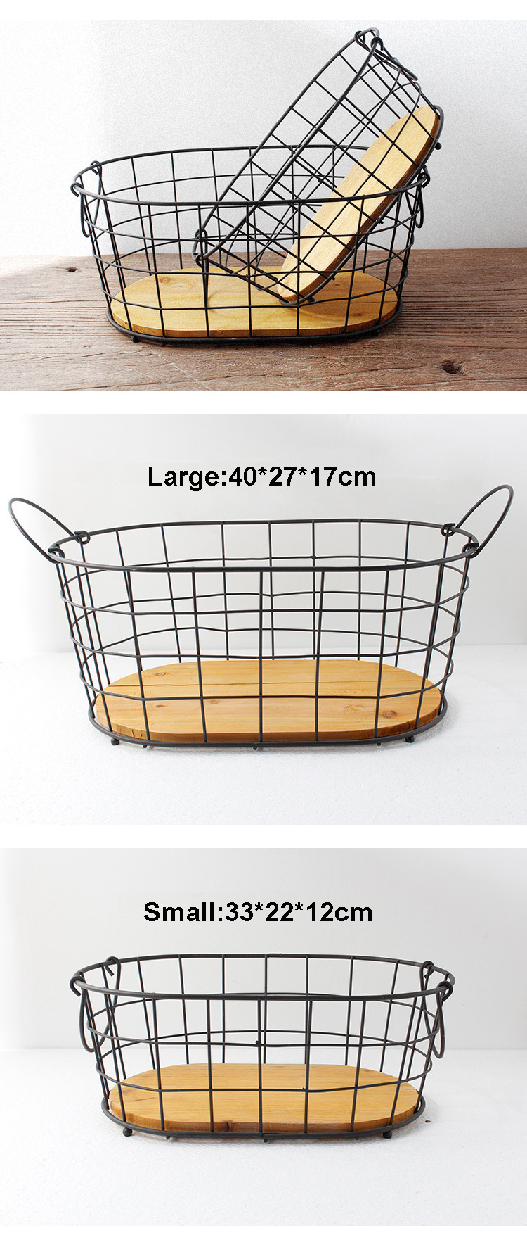 Metal Wire Basket Set