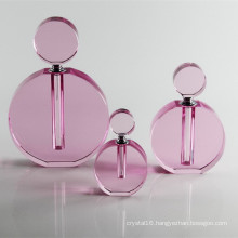 Fashion Pink Crystal Glass Perfume Bottle