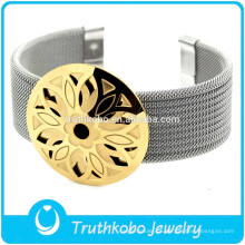 F-B0221 Pulseira de jóias ajustáveis para mulheres feminino acessório de ouro pulseira de cinto de punho de prata