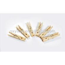 Color de la naturaleza mini clavijas de madera