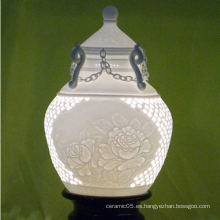 Lámpara perforada de cerámica real de la casa, cortinas de la lámpara de la porcelana