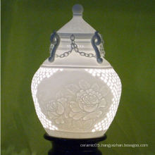 Royal household ceramic perforated lamp shades,porcelain lamp shades