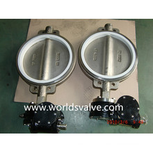 Válvula Borboleta CF3m Ss316 Wafer com Assento de PTFE (D71X-10/16)