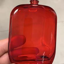 Frasco de vidro cosmético com pintura à base de água