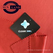 Tecido 100% poliéster antibacteriano dry fit em malha única jersey